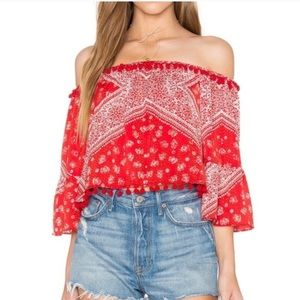 Tularosa Pom Off Shoulder Top